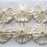 Ivory Satin Fabric FQ - Bridal Sati..